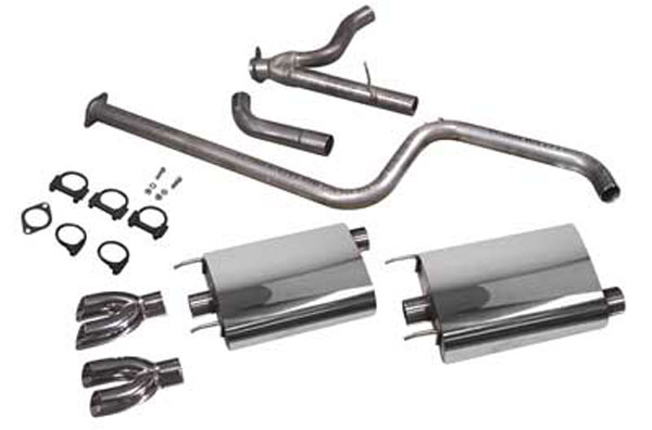 SLP Performance (31040M) SLP Exhaust System, 1997-08 Grand Prix PowerFlo w/Dual/Dual Tips