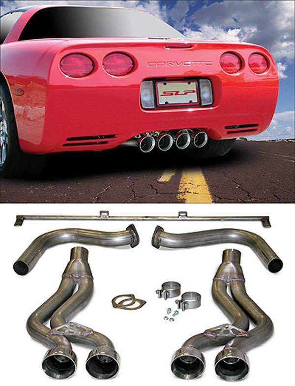 SLP Performance 31049 | SLP Loudmouth Exhaust Corvette C5 Axle-back System; 1997-2004