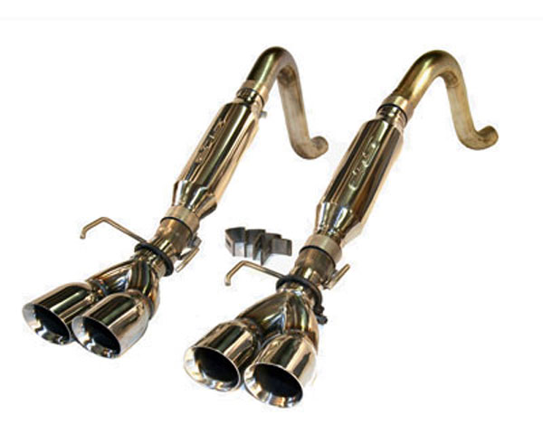 SLP Performance 31077 | SLP Loudmouth Exhaust Corvette C6 Axle-Back w/ Round Tips; 2005-2008