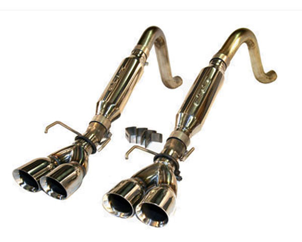 SLP Performance (31078) SLP Loudmouth II Exhaust Corvette C6 2005-08 Axle-Back w/ Round Tips