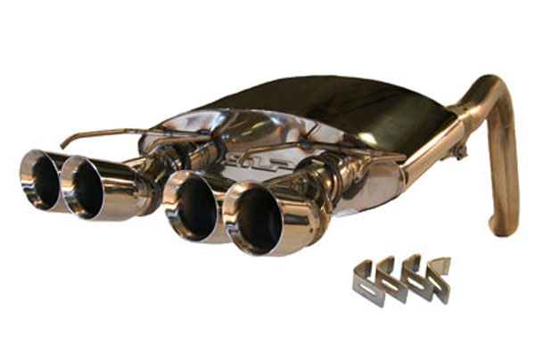 SLP Performance (31079) SLP Exhaust System, 2005-08 C6 Corvette Powerflo w/ Round Tips