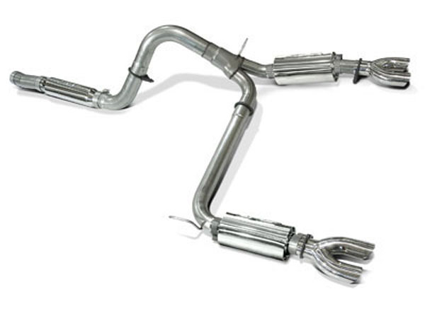 SLP Performance 31083 | SLP Exhaust System, Camaro PowerFlo LS1 w/Dual-Dual Slash Cut Tips V8; 1998-2002