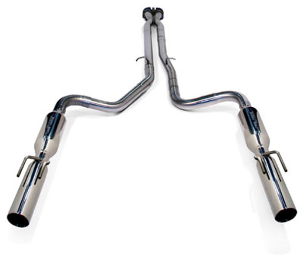 SLP 31561:  Loudmouth II Exhaust GTO 2005-06 Cat-back System w/PowerFlo-X Crossover Pipe
