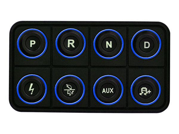 AEM 30-8400 | EV 8 Button Keypad CAN Based Programmable Backlighting