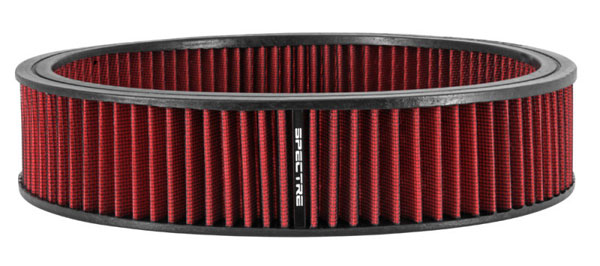 Spectre 880136 | 1985 Buick Riviera 5.7L V8 DSL Air Filter 14in. x 3in. - Red; 1985-1985