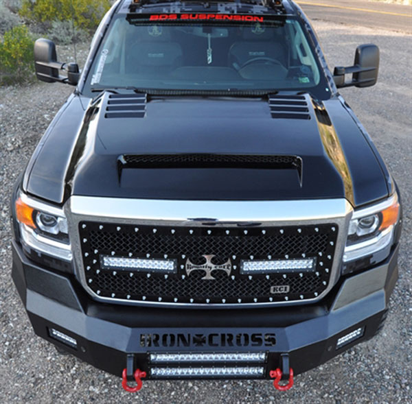 RKSport 35016050 |  GMC Sierra HD Ram Air Hood; 2015-2017