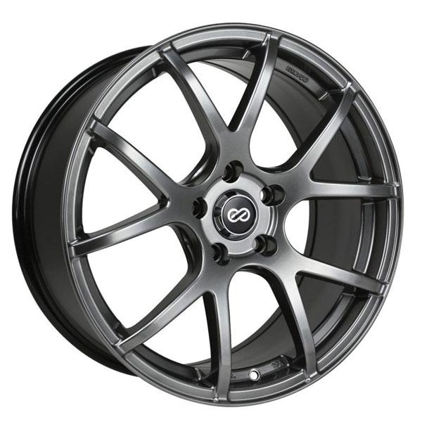 Enkei 480-775-6540hb | M52 17x7.5 40mm Offset 5x114.3 Bolt Pattern 72.6mm Bore Dia Hyper Black Wheel