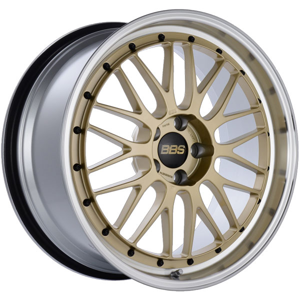 BBS LM238GPK | LM 20x9.5 5x114.3 ET40 CB66 Gold Center Diamond Cut Lip Wheel