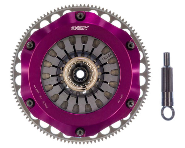 Exedy Racing MM022HBMC | Exedy Hyper Twin Carbon-R Clutch Kit MITSUBISHI LANCER L4 2; Rigid Disc; Pull Type; 1997-1998