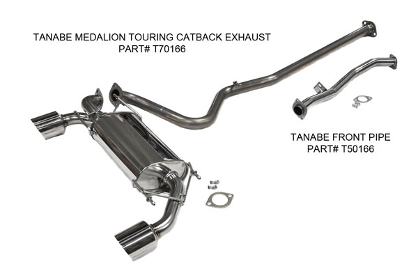 Tanabe (T70166)  Medalion Touring Exhaust Toyota 86