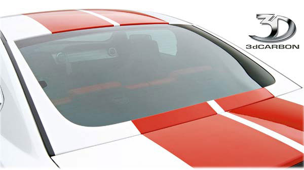 3dCarbon 691015:  Mustang Boy-Racer Rear Window 'U' Trim 2005-2009 V8