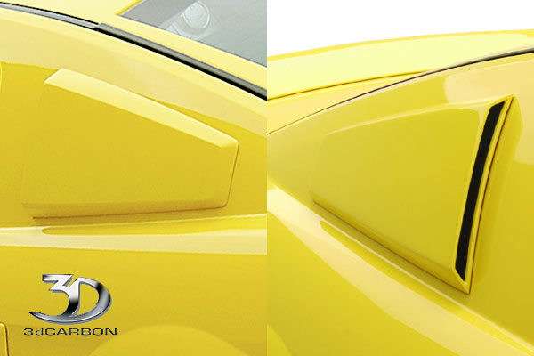 3dCarbon 691018:  Mustang Side Window Scoops (pair) 2005-2009 V6