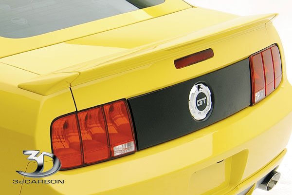 3dCarbon 691021:  Mustang 3 Piece Rear Duck Tail spoiler 2005-2009 V6