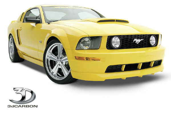 3dCarbon 691022:  Mustang GT Front Air Dam 2005-2009 V8