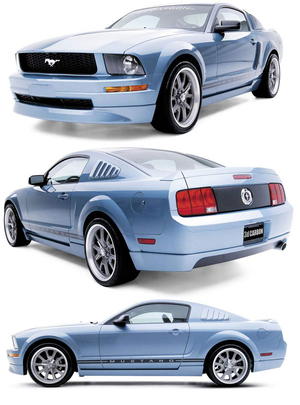 3dCarbon 691034:  Mustang V6 4 - Piece Body Kit 2005-2009