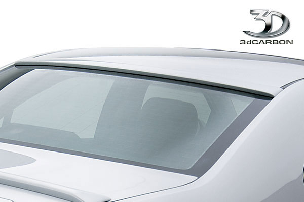 3dCarbon 691207:  Ford Fusion Euro Series Upper Glass Rear Spoiler