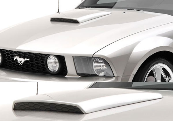 lm 3d691268 ford mustang hood scoop. Black Bedroom Furniture Sets. Home Design Ideas