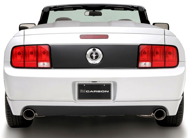 3dCarbon 691566:  Mustang V6 Dual Exhaust Rear Lower Skirt 2005-2009