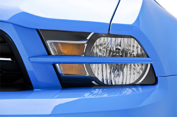 3dCarbon 691602-V6:  2010-11 Mustang V6 Headlight Splitters