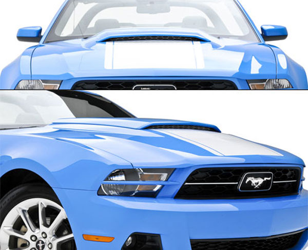 3dCarbon 691608:  2010-11 Mustang Hood Scoop NO-DRILL V8