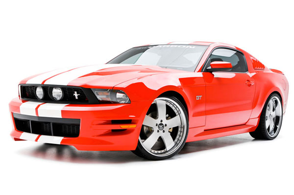 3dCarbon 691613:  Mustang Boy Racer 4 Piece Body Kit 2010-11 Mustang V6