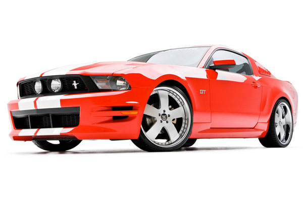3dCarbon 691614:  Mustang Boy Racer 5 Piece Body Kit 2010-11 Mustang V8