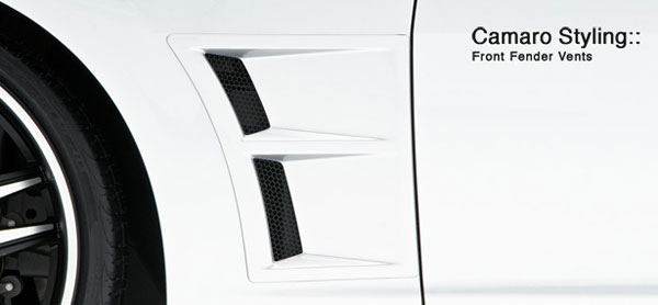 3dCarbon 691807:  Camaro 2010-11 V6 / V8 Fender Vents (Left & Right)