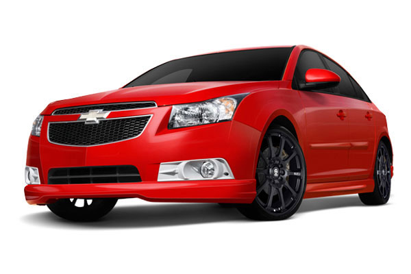 3dCarbon 691814:  Chevrolet Cruze Style Kit 5 Pc. Kit with Rear Deck Lid Wing Style Spoiler