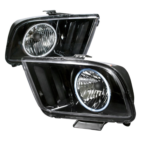 Spec-D Tuning 3LH-MST05JM-KS: Spec-D 05-09 Ford Mustang Ccfl Halo Headlights Black V8