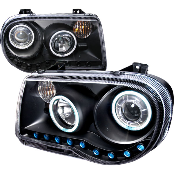 Spec-D Tuning 3LHP-300C05JM-KS | Spec-D Chrysler 300c Projector Headlights; 2004-2010