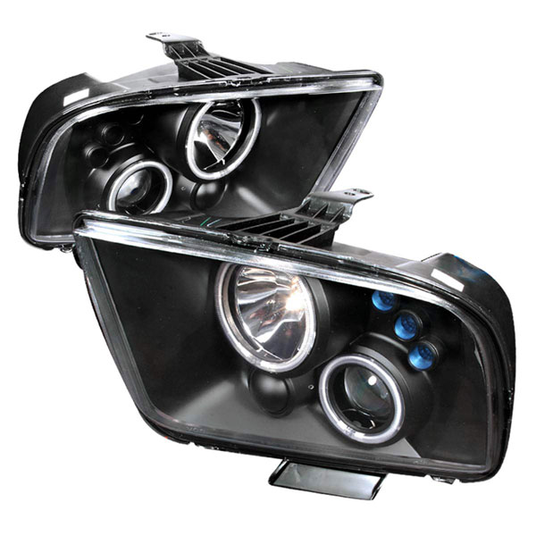 Spec-D Tuning 3LHP-MST05JM-KS: Spec-D 05-09 Ford Mustang Projector Headlights V8