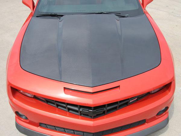 RKSport 40011141 | Camaro V8 Carbon Fiber Hood; 2010-2013