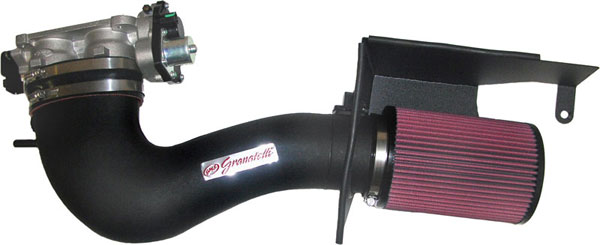 Granatelli 410040-PL:  2005-2009 Mustang GT Cold Air Induction - Black Composite