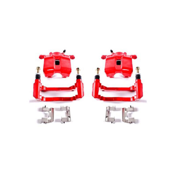 PowerStop s2584   Power Stop 01-03 Acura CL Front Red Calipers w/Brackets - Pair; 2001-2003