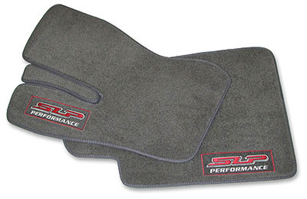 SLP Performance 44001: SLP Floor-Mat Set, Front Dark Gray w/SLP Logo Camaro 1993-02 V8