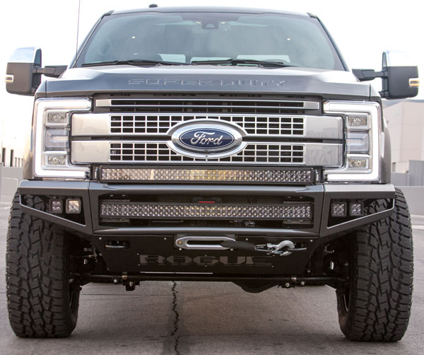 Rogue Racing (442517-91-01-DS)  F-250 / 350 ENFORCER Front Bumper 2017+ Dimple Skins