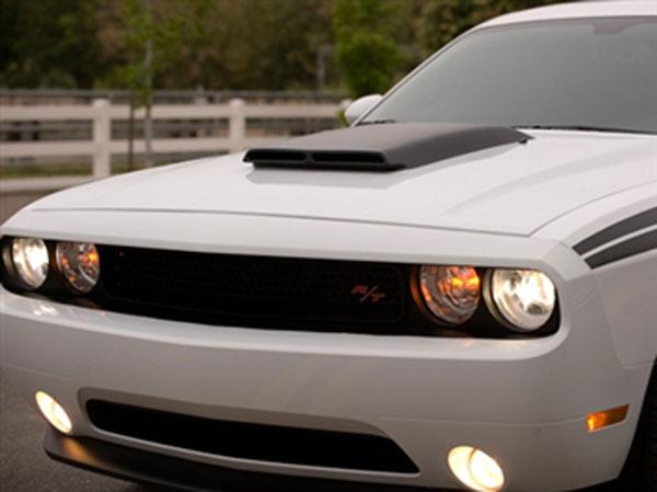 RKSport 47011010 | RKSPort Dodge Challenger Ram Air Hood with Carbon Fiber Blister; 2008-2014