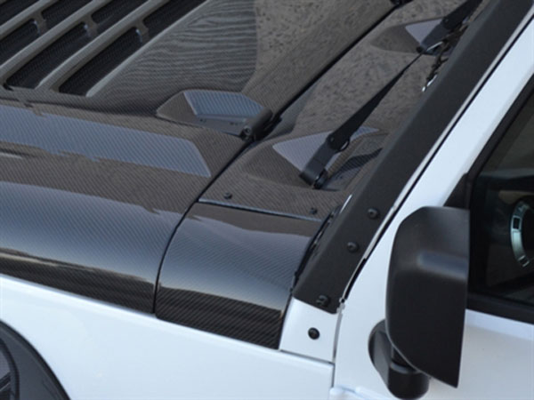 RKSport 48011075   Wrangler Windshield Cowl Dress Kit - Carbon Fiber; 2007-2015
