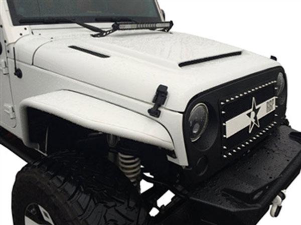 RKSport 48012000 | Jeep Wrangler Ram Air Hood; 2013-2015