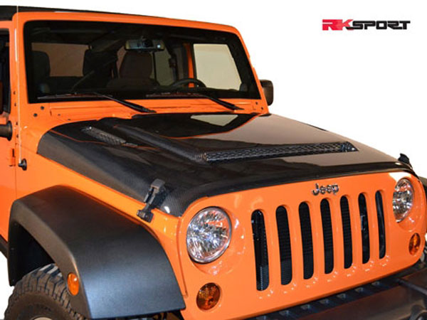 RKSport 48012020 |  Jeep Wrangler Ram Air Hood 2013-15 Carbon Fiber