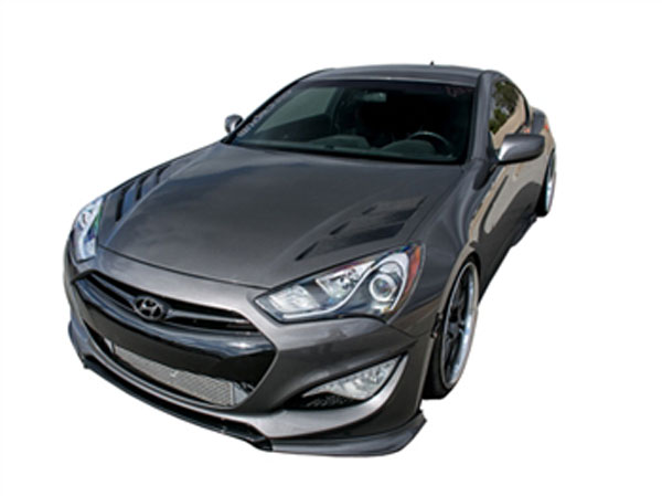 RKSport 49011010:  Genesis Coupe Hood with Carbon Fiber Gills 2013-15