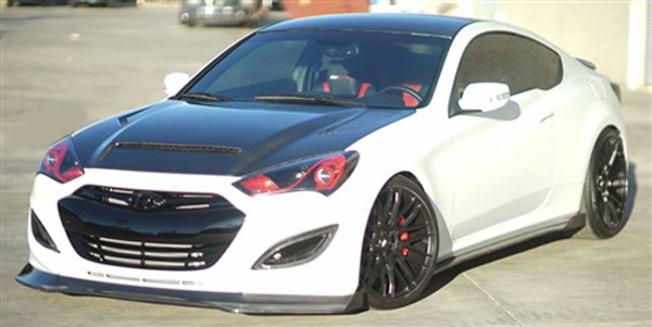 RKSport 49012002 | Genesis Coupe Genesis Coupe Carbon Fiber Rocker Panels Right Side; 2010-2016