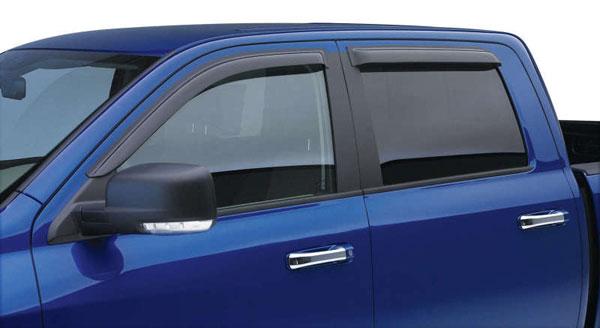 EGR 641671wb   14+ Chev Silverado Ext Cab Tape-On Window Visors - Set of 4 (641671); 2014-2020