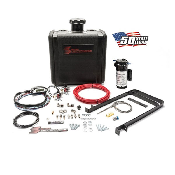 Snow Performance sno-50100 | Stg 3 Boost Cooler Water Injection Kit TD (Red Hi-Temp Tubing and Quick Fittings)
