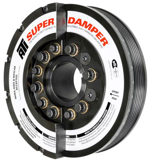 ATI ati917371 | Damper - 7.425in - Steel - 6 Grv - Duramax - 01-05 - LB7 & LLY - Ext Bal - 3 Ring - Diesel