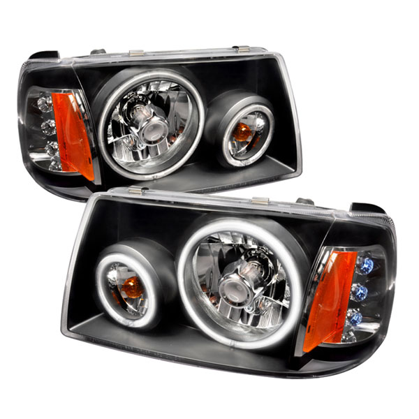 Spec-D Tuning (4LH-RAN01JM-KS) Spec-D 01-04 Ford Ranger Ccfl Headlights -Black