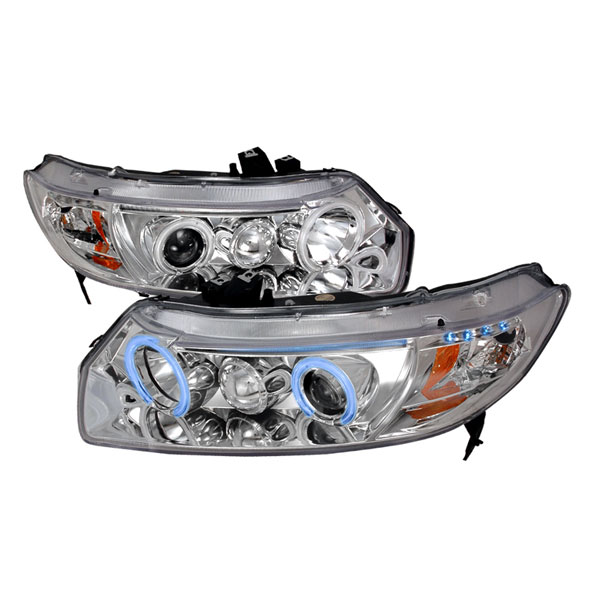 Spec-D Tuning 4LHP-CV062-KS: Spec-D 06-up Honda Civic 2d Projector Headlights