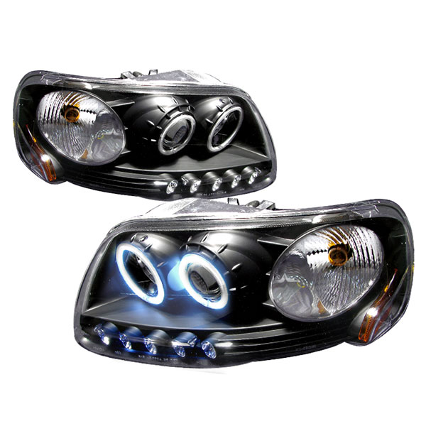 Spec-D Tuning 4LHP-F150971PCJM-KS: Spec-D 97-03 Ford F-150 1pc Projector Headlights