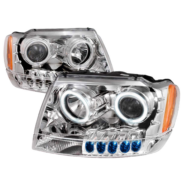 Spec-D Tuning 4LHP-GKEE99-KS: Spec-D 99-04 Grand Cherokee Projector Headlights