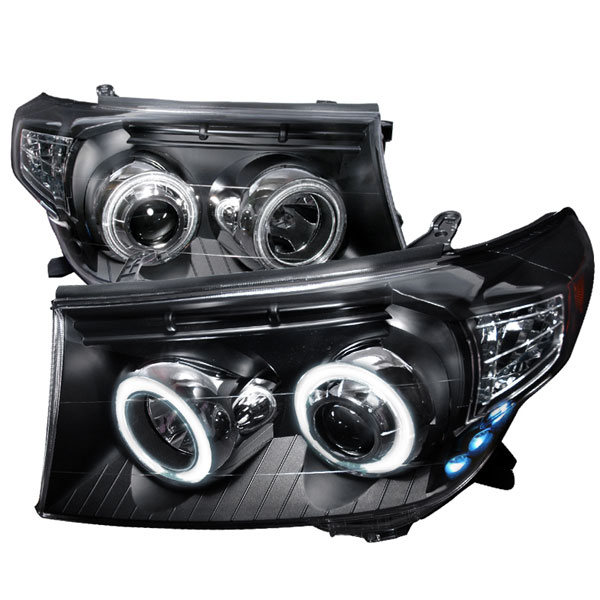 Spec-D Tuning 4LHP-LCR08JM-KS: Spec-D 08-up Land Crusier Ccfl Projector Headlights